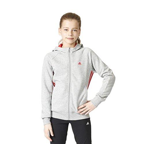 adidas Mädchen Kapuzenjacke Essentials Mid 3-Stripes
