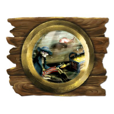 Sunken Ship Porthole Cutout Party Accessory (1 count) (Cut Out Ship)