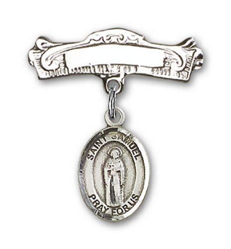 Icecarats Créatrice De Bijoux En Argent Sterling St. Samuel Charme Broches Badge Arc 7/8 X 7/8