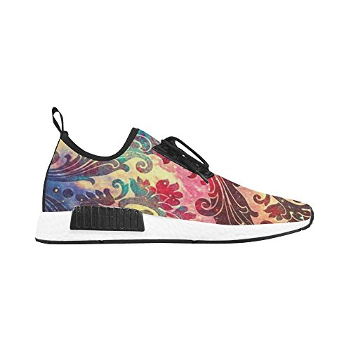 InterestPrint Stylish Retro Colorful Floral Pattern Women Sneaker Trainer Fitness Running Shoes bRa8q