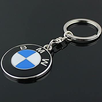 For BMW Metal Alloy Key Ring Car Keychain Silver Pendant Holder Accessories
