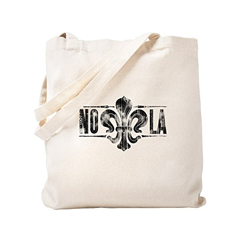 CafePress Fleur-De-Lis Too Natural Canvas Tote Bag, Cloth Shopping Bag