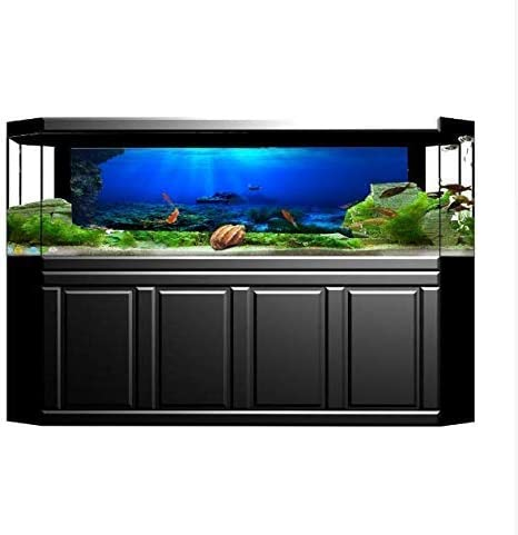 Karen Low New! 19 Inch Height Double Sided Aquarium Background Clear Ocean Tropical Fish Decorations