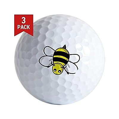 CafePress - Bumble Bee Golf Ball - Golf Balls (3-Pack), Unique Printed Golf Balls