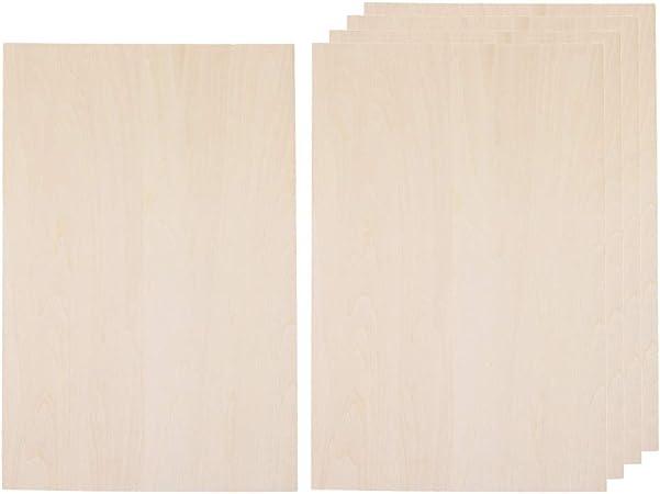 CUTICATE 20 St/ück Balsaholz Holzbearbeitung f/ür DIY Tischzubeh/ör 50x200x1,5mm