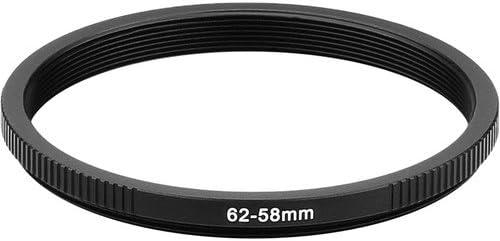 Sensei PRO 62mm Lens to 58mm Filter Aluminum Step-Down Ring 3 Pack