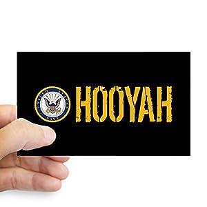 CafePress U.S. Navy: Hooyah (Black) Bumper Sticker by CafePress