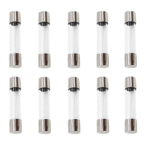 0.5A,1A,2A,3A,5A,8A,10A,15A,20A(0V-250V) IRISFLY 100pcs 5x20mm Fast-Blow Glass Fuses Quick Blow Car Glass Tube Fuses Assorted Kit Amp 0.2A