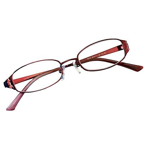 Women's Ultra-Light Reading Glasses, Ultra-Light Titanium Frame Resin Anti-Blue Lens Anti-Uv Metal Hinge,+3.5