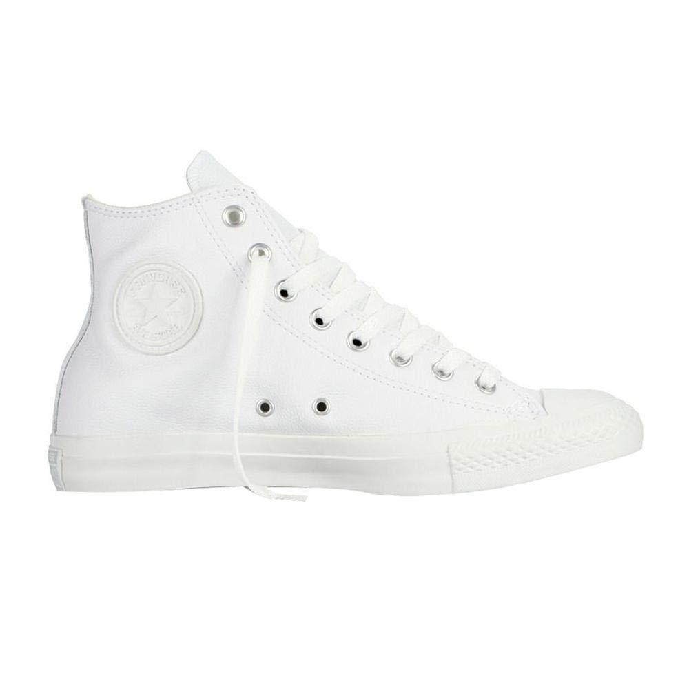 fd85ca3e764f3 Converse Chuck Taylor All Star Leather High Top Shoe, white monochrome, 8  D(M) US Men / 10 B(M) US Women