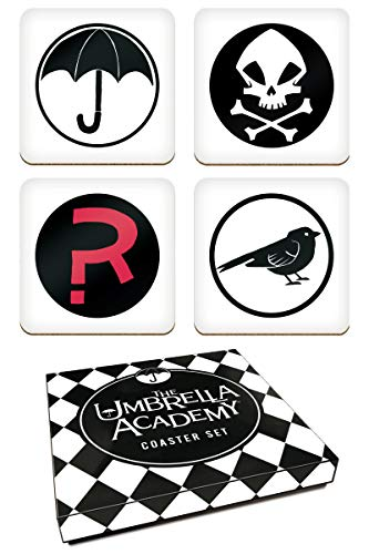 - Dark Horse Deluxe The Umbrella Academy Coaster Set, Multicolor