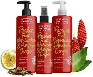 Not Your Mother's Naturals Passion Fruit Kombucha & Awapuhi Ginger Youth Revival Shampoo, Conditioner and Leave-In Treatments Set by Not Your Mother's Naturals