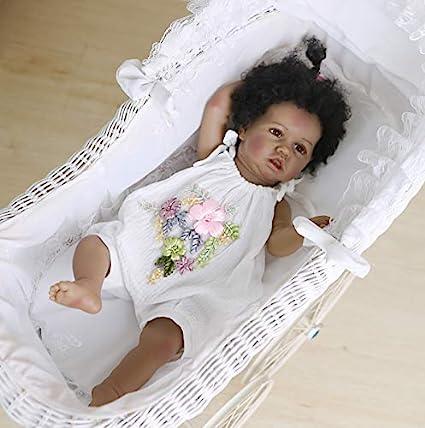 Kokomo 22 Inch Black African American Reborn Baby Dolls for Girls Silicone Full Body That Look Real Realistic Newborn Size Doll