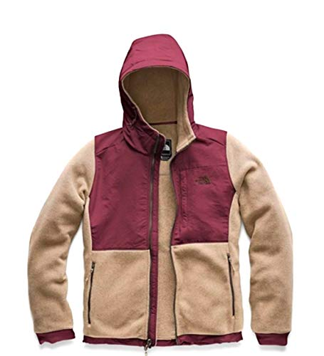 (The North Face Denali 2 Hoodie Doeskin Brown/Fig Red Large)