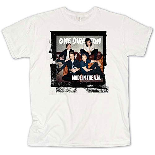 One Direction Men's Made in The A.M. T-Shirt Medium White (Best One Direction Merchandise)