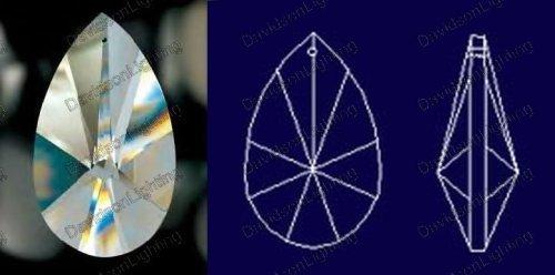 76mm Crystal Teardrop Prisms #873-76 Set of 10 pcs