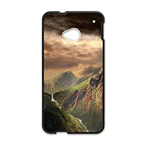 Personalized Creative Cell Phone Case For HTC M7,grand mountains and dark sky