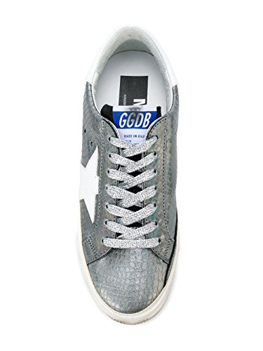 buy online 828e2 580d6 ... Golden Goose Sneakers Donna G32WS127H9 Pelle Argento