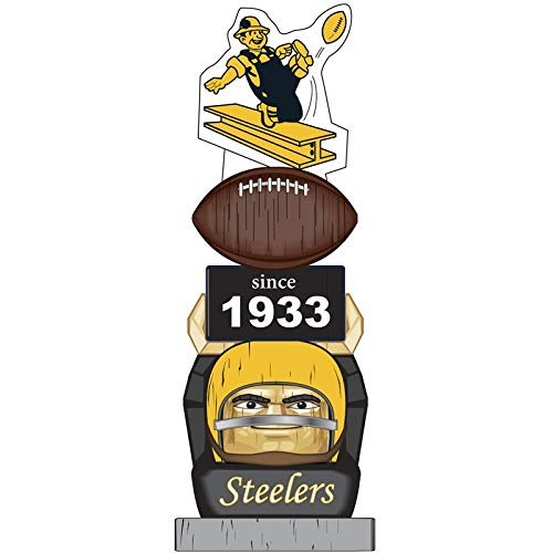 Gnome Steelers Pittsburgh (Team Sports America Pittsburgh Steelers Vintage NFL Tiki Totem Statue)