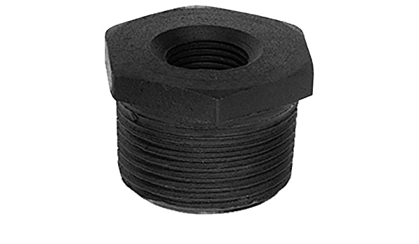 5-Pack Plumbers Choice 93698 1-1//2-Inch x 1-Inch Black Fitting with Hex Bushings
