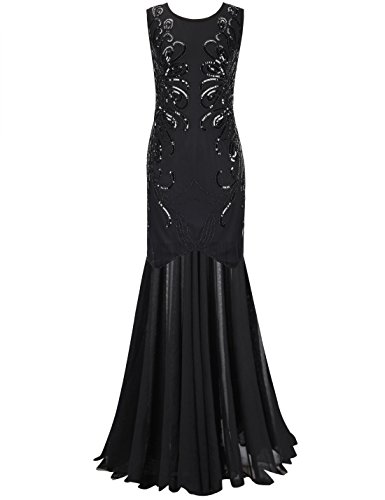 PrettyGuide Sequin Flapper Evening Formal