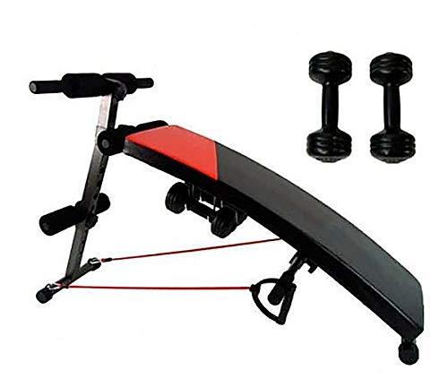 Fitness House FH_1 Banco Abdominal con Tensores Y Mancuernas, Unisex Adulto, M-L: Amazon.es: Deportes y aire libre
