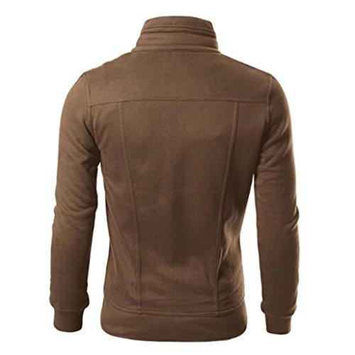 Unita Morwind Progettato Cardigan Outwear Sottile Giacca Tinta Cappotto Maschile Coffe Bavero EprxpPqA
