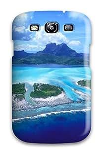 New Awesome Beautiful Look On Reefs Bora Bora Beach Tpu Case Cover, Anti-scratch VAkihDb179nkpFE Phone Case For Galaxy S3