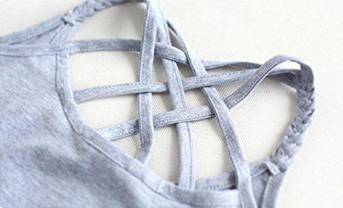 Camiseta De Tirantes Básica Camiseta Interior Tank Top Cami Camiseta Sin Mangas Para Mujer Amarillo Fluorescente Gris