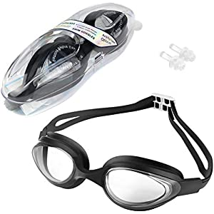 MOPIDICK Swim Goggles, Youth Swiming Goggles Anti Fog,No Leaking,UV Protection,Triathlon Equipment Profession Wide View…