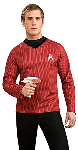 Shirt Deluxe Costumes (Star Trek Movie Deluxe Red Shirt, Adult Medium Costume)