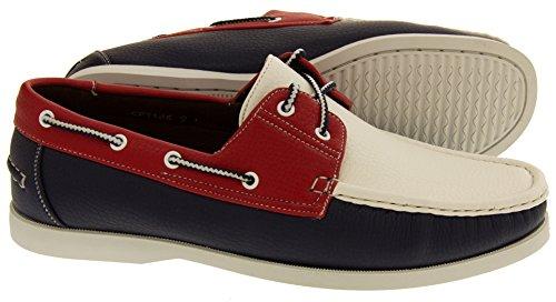 Blanco Hombre Shoreside Sintético Azul zapato barco Marino xZP4qwPg