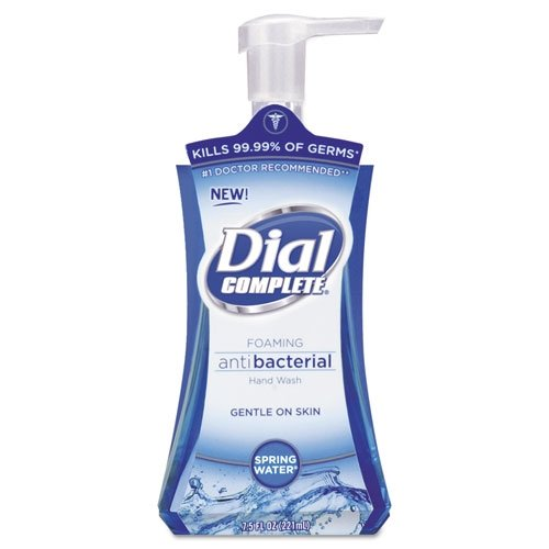Dial Professional Antimicrobial Foaming Hand Soap, Spring Water, 7.5oz