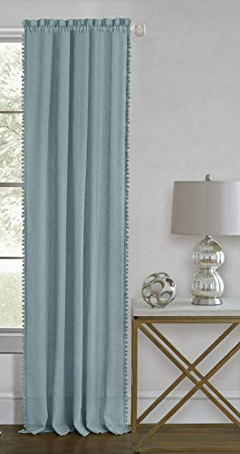 - Ben & Jonah PrimeHome Collection Wallace Rod Pocket Window Curtain Panel-52x63-Aqua, Aqua