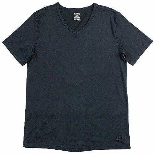 Buffalo By David Bitton Men's Col V Black Microfiber V-Neck T-Shirt Sz: XL