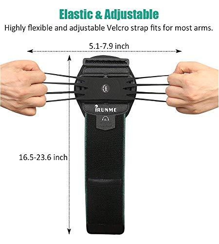 Armband iPhone X/iPhone 8 Plus/ 8/7 Plus/ 6 Plus/ 6, Galaxy S8/ S8 Pl us/ S7 Edge, Note 8 5, Google Pixel, 360° Rotatable Key Holder Phone Sports Armband Phone Holder by iRunme (Image #3)