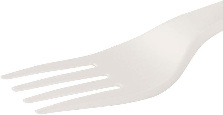 BIOZOYG Fourchette jetable Fourchette en Plastique Blanche Bio I Fourchette en Plastique compostable I Fourchettes en Plastique biod/égradables en CPLA I 1000x Fourchette en Plastique jetable 16,3 cm