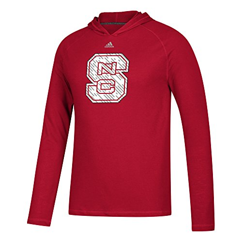adidas NCAA North Carolina State Wolfpack Mens Line Shine Ultimate L/S Hoodline Shine Ultimate L/S Hood, Power Red, Large