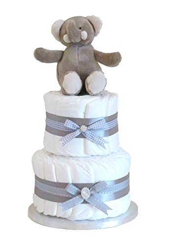 Firma Elli gris dos pisos/unisex - tarta de pañales/Nuevo regalo del ...