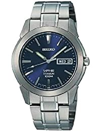 Seiko Men's SGG729 Blue Titanium Quartz Watch