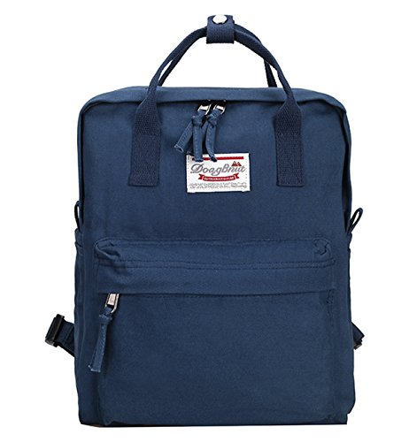 Tom Clovers Womens Canvas Backpack Handbag Casual School Travel Hiking Bags for Girls Lady Blue
