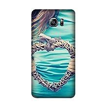 Samsung Galaxy Note 5 Case -High Clear hands heart plexus t-shirt Pattern TPU Bumper Rubber Skin Flexible Slim Soft Case for Samsung Galaxy Note 5 Design By [Andrea Novak]