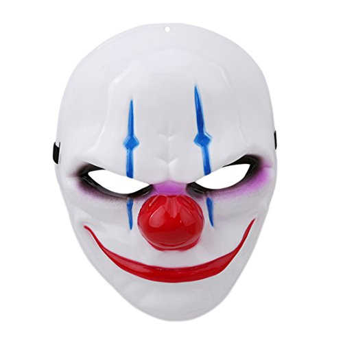 FULLIN Halloween Mask Cosplay Mask Theme Mask Game Mask For Halloween Masquerade Party,Clown