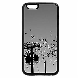 iPhone 6S Case, iPhone 6 Case (Black & White) - birds