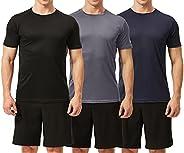 TEXFIT Men's 3 Pack Active Sport Quick Dry T-Shirts (3 pcs