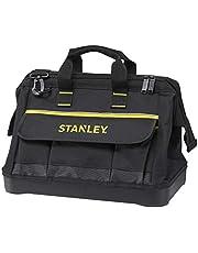 Stanley 1-96-183 Gereedschapstas (44,7 x 27,5 x 23,5 cm, robuuste kunststof bodem, versterkte hoeken, stabiel 600 denier nylon, verstelbare schouderriem, waterdicht)