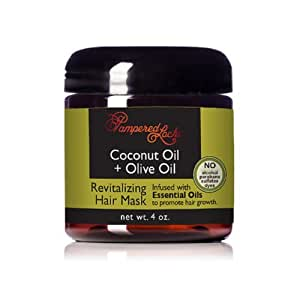 Amazon.com : Coconut Oil + Olive Oil Hair Mask (4 oz ...