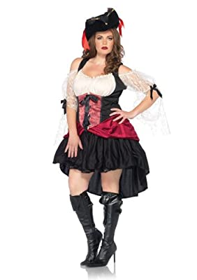 Leg Avenue Plus-Size Plus Size Wicked Wench Peasant Dress with Lace Sleeves