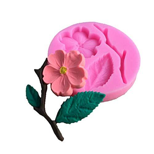 Slendima 2.20'' x 0.39'' Silicone Peach Blossom DIY Fondant Cake Mold Kitchen Decorating Baking Tool by Slendima (Image #4)