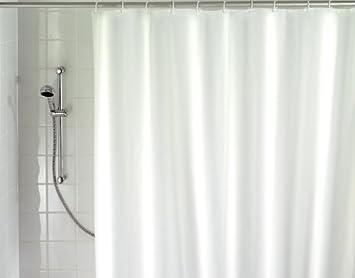 Wenko 19146100 Rideau de Douche Textile Blanc Dimensions 180 x 200 ...